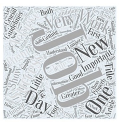 Achieving success in new jobs word cloud concept vector