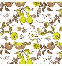 floral wallpaper pattern vector image