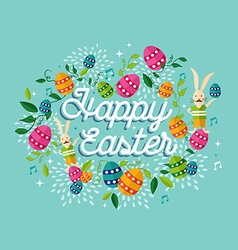 Happy Easter spring time background vector image vector image
