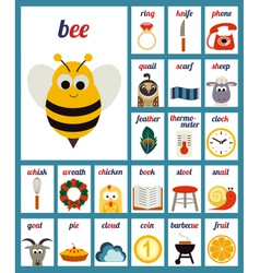 Set of Cards with alphabet phonemes vector image vector image