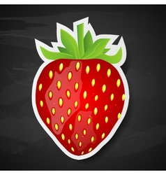 Strawberry on black background vector image vector image