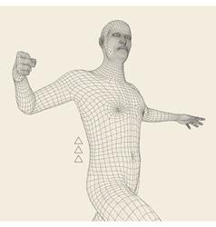 3D Model of Man Geometric Design Technology vector image