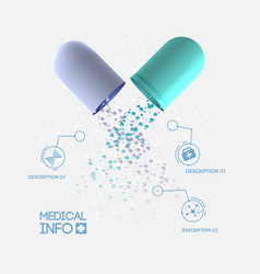 Abstract medicine infographic concept vector
