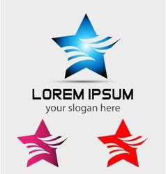 Abstract star symbol logo vector