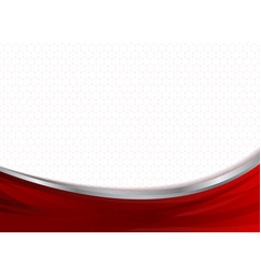 Abstract technology business red curve vector