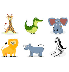 African animals cartoon vector