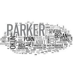 Al parker text word cloud concept vector
