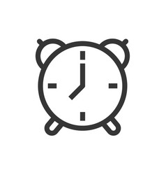 Alarm clock line style isolated icon vector