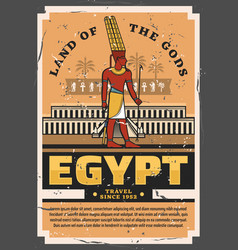 Ancient egyptian pharaoh egypt travel and tourism vector