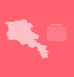 Armenia map abstract schematic from white vector