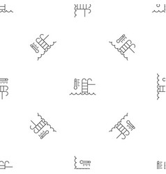 Auto temperature pool control pattern seamless vector