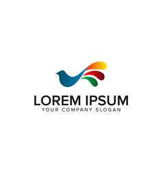 bird colorful logo design concept template vector image