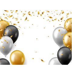 birthday celebration party banner realistic gold vector image
