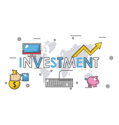 Business investment banner vector