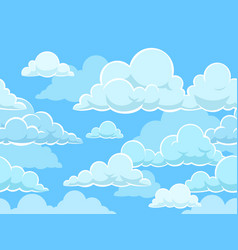 cartoon seamless clouds background pattern vector image