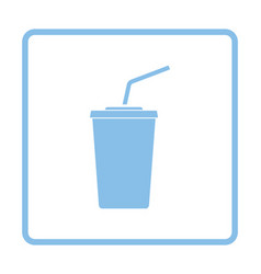 Cinema soda drink icon vector