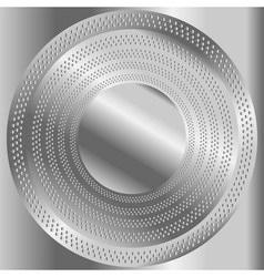 Circular brushed metal texture with dots vector