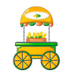 Corn street shop icon cartoon style vector