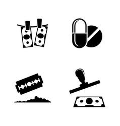 Criminal business drug trafficking simple vector