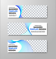 Design of horizontal white banners with place for vector