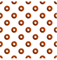 donut cookies pattern seamless vector image