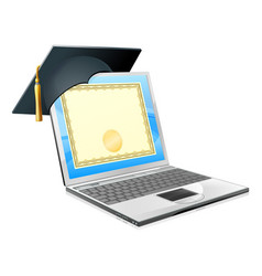 education laptop concept vector image