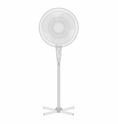 Electric white fan vector