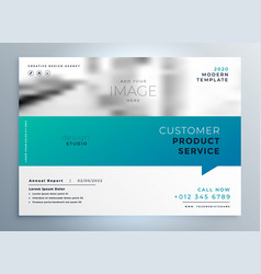 Elegant blue business brochure presentation vector