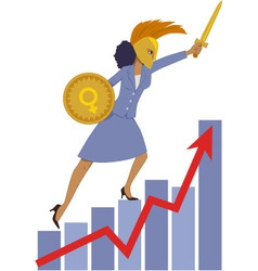 Female leader in business vector image
