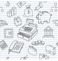 Finance seamless vector