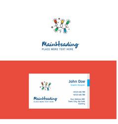 flat decoration lights logo and visiting card vector image