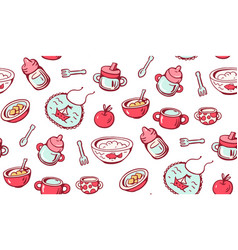 Food for babies vector
