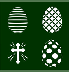 four easter plotter cutting templates vector image