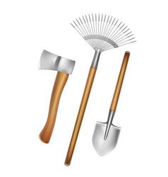 Gardening hand tools vector
