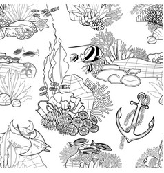 graphic coral reef vector image