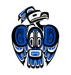 haida thunderbird tattoo ornament in haida style vector image