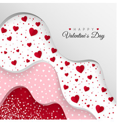 happy valentines day greeting card layers vector image