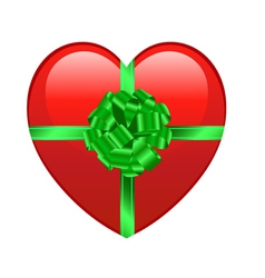 heart gift vector image vector image