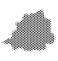 Hex tile vatican map vector