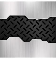 Industrial grunge metal steel wall gatel vector