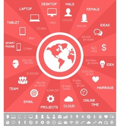 IT Industry Infographic Elements vector image