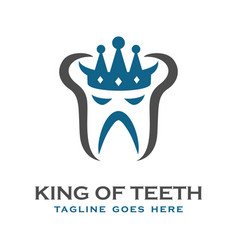 king tooth logo vector image
