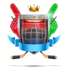 Label for ice hockey sport competition Bright vector image