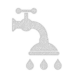 Mesh shower tap icon vector