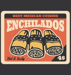 Mexican enchilada sandwiches fast food vector