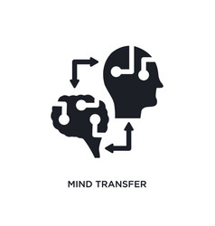 Mind transfer isolated icon simple element from vector