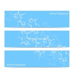 Modern set of banners Abstract polygonal vector image