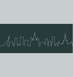 moscow single line skyline vector image