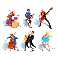 Musicians Cartoon Set vector