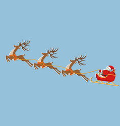 New year christmas picture of a deer sleigh and vector